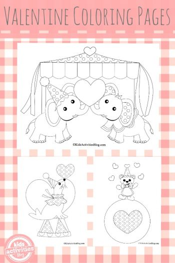 Valentine coloring pages for kids 2- Kids Activities Blog
