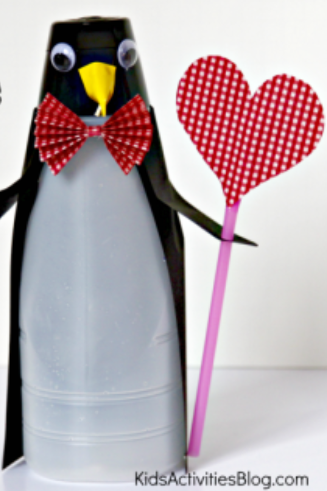 Recycled Coffee Creamer Bottle Craft Perfect for Valentine's Day