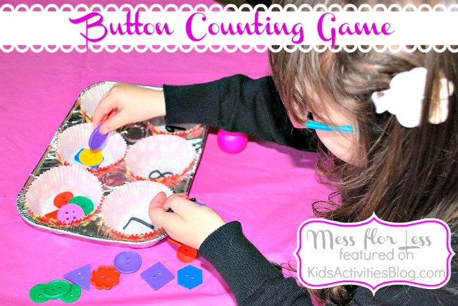 Counting Game {Button & Muffin Tin Fun} for Children