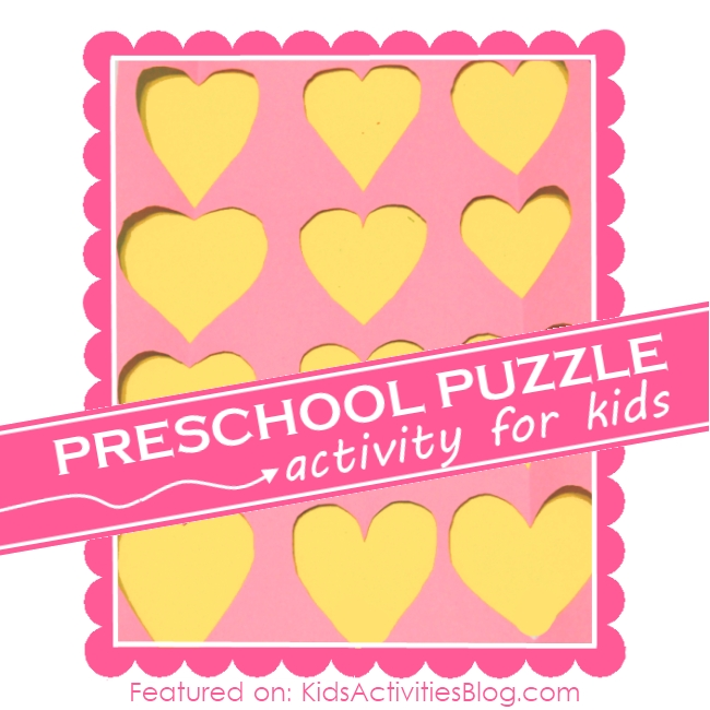Learning Activities for Kids: Make a puzzle and matching game