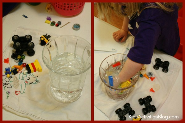 Sink or float?  Let your kids discover on their own with this great experiment with water