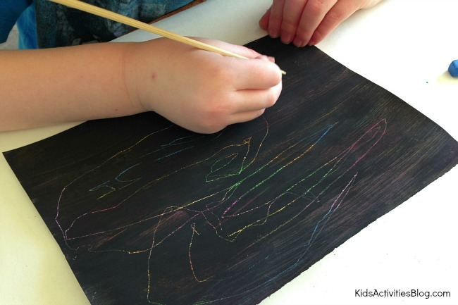 Easy Crayon Art: How to Scratch Art