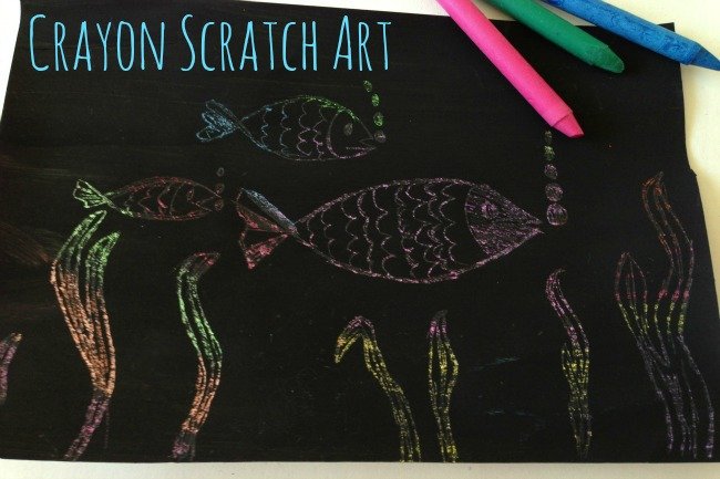 {Crayon Art} How to Scratch Art with Wax Crayons