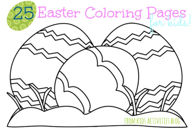 25 Easter Coloring Pages For Kids