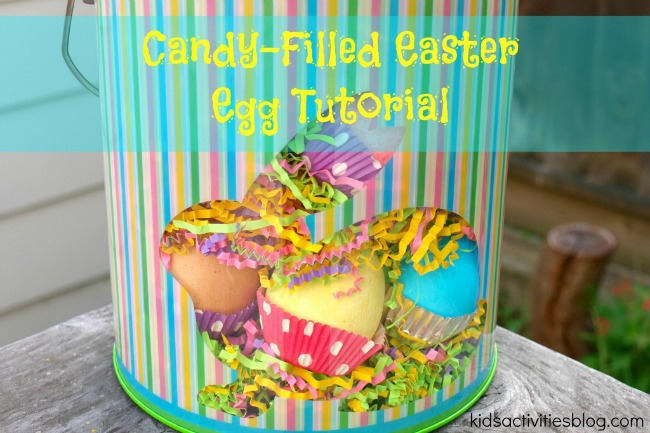What a cute egg tutorial for making a filled egg for super cute Easter treats for kids