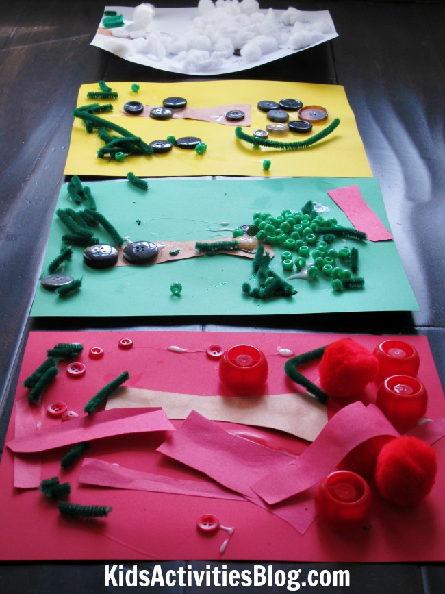 Book Activity: Show Change of Seasons with this craft idea based on The Season's of Arnold's Apple Tree by Gail Gibbons