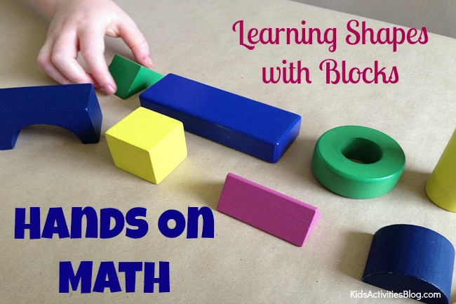 Math Game: Geometric Shapes {Hands On Math}