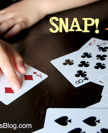 Math games for Kids: Snap Plus One {Math with Cards}