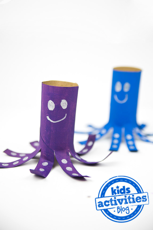 Toilet Paper Roll Craft {Make an Adorable Octopus}