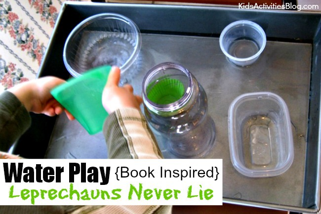Water Play with Book Inspired Ideas from Leprechauns Never Lie