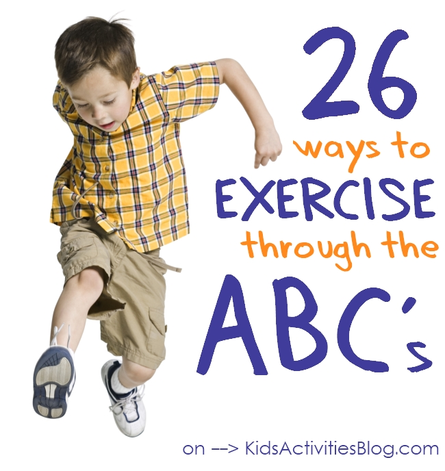 exercise - as your kids learn the alphabet