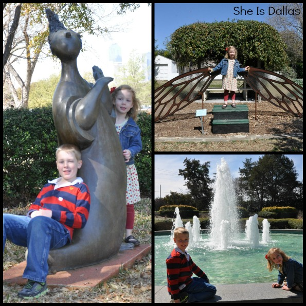 gardens collage for Texas Discovery Gardens in Dallas