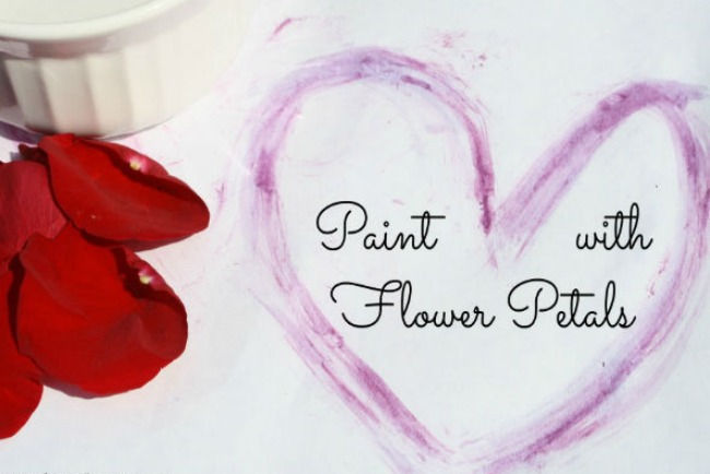 Kids Painting Activity:  How to Create Flower Art!
