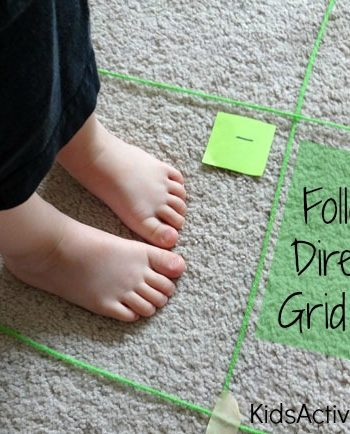 Map Game for Kids: Following Directions Grid Game {Map Skills Activities}