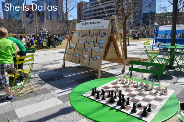 Games and Reading at Klyde Warren Park Dallas