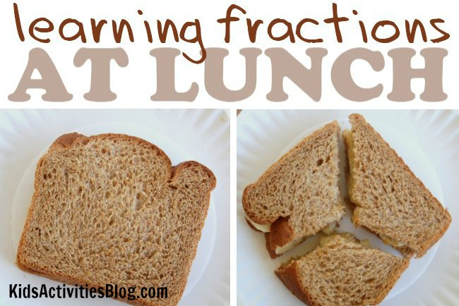 Math Fractions at Lunch {Learning with Food}