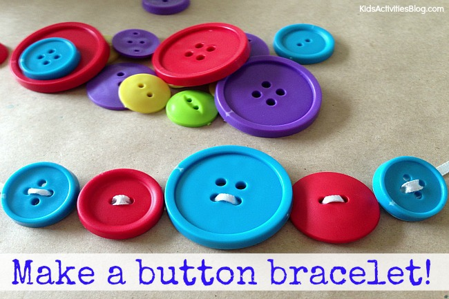 Button Craft: Make a Button Bracelet {Easy Bracelets to Make}
