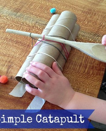 Building a Catapult for Kids {Simple Catapult = Catapult Games}
