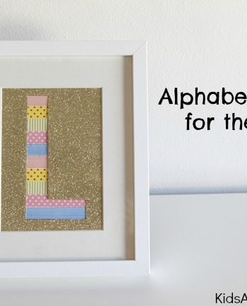 Alphabet Letters for the Wall {How to Make a Silhouette}