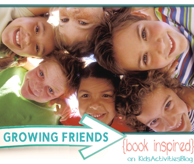 book inspired activity for kids - friendships