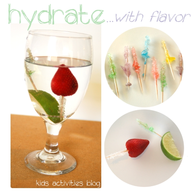Kids can make rock candy mini skewers for an awesome rock candy treat!