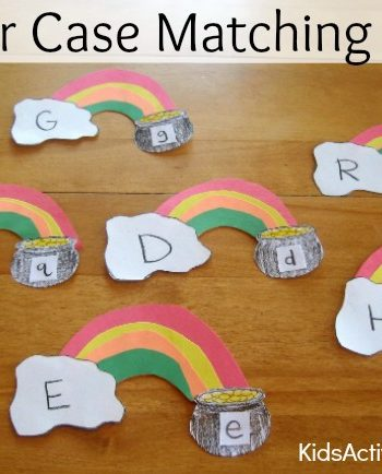 Letter case matching game for kids