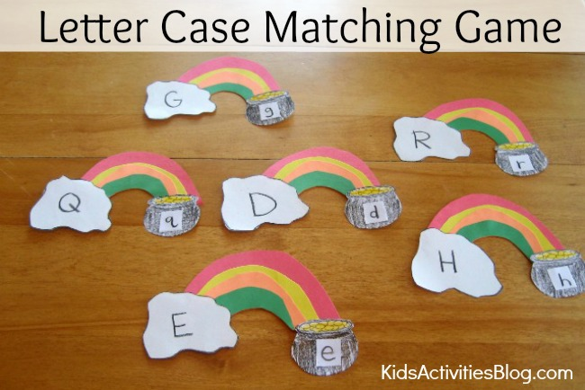 Reading Game: Letter Case Matching Game {Early Reading Activities}