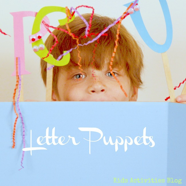 spelling practice letter puppets