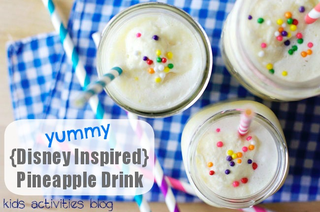 yummy disney inspired pineapple drink for kids