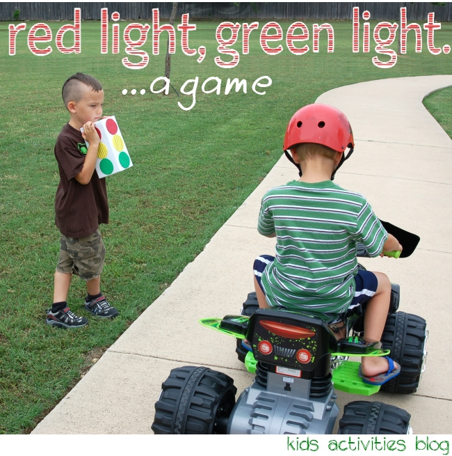 Play Red Light, Green Light with a tissue box light and a MotorTRAX bike.