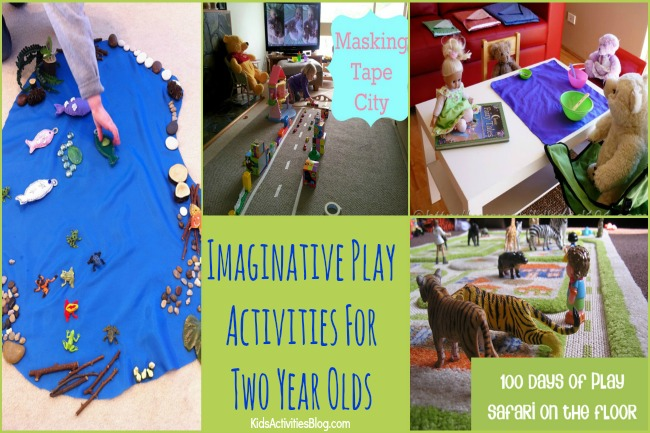 2 year olds are having fun with this great list of 30 activities for kids