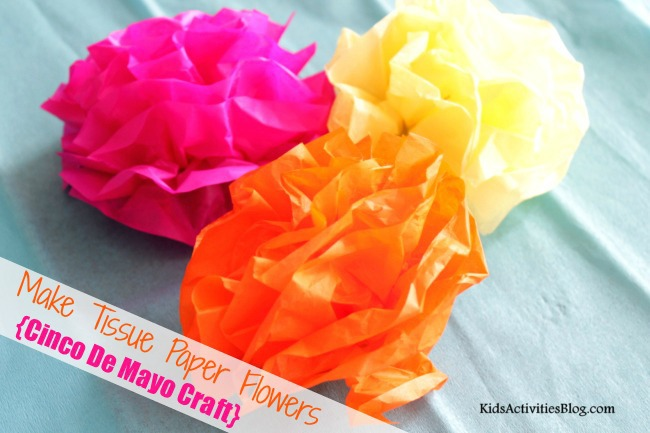 Make a Paper Flower from Tissue Paper {Cinco De Mayo!}