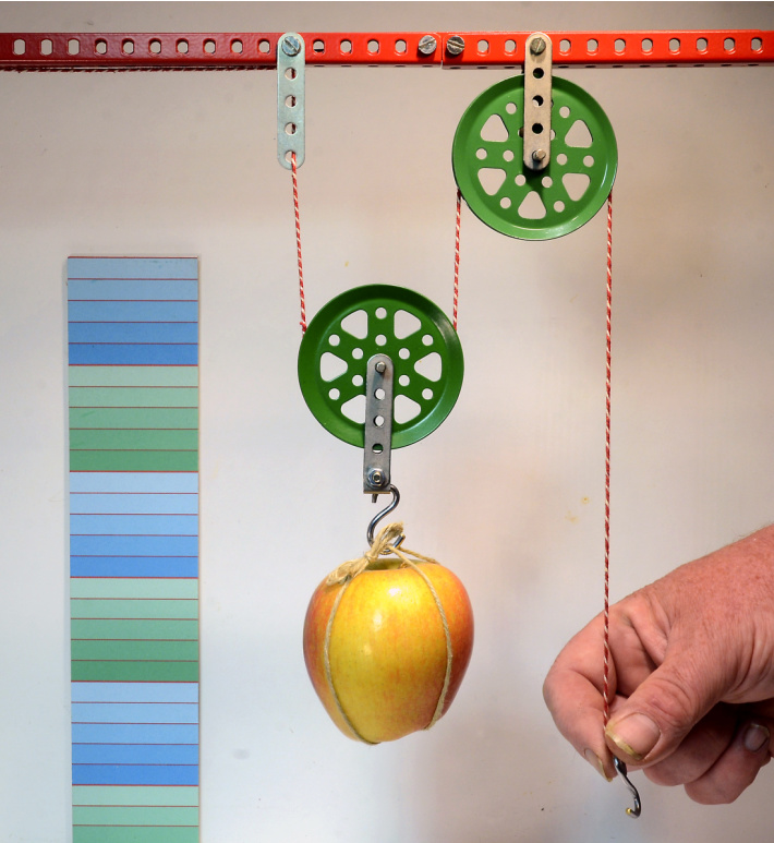 Pulley made out of an erector set - simple machine - Kids Activities Blog