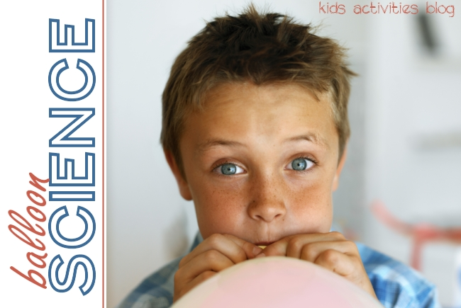 Simple balloon science experiment for kids