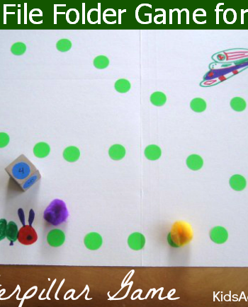 cute file folder game for kids - the caterpillar game