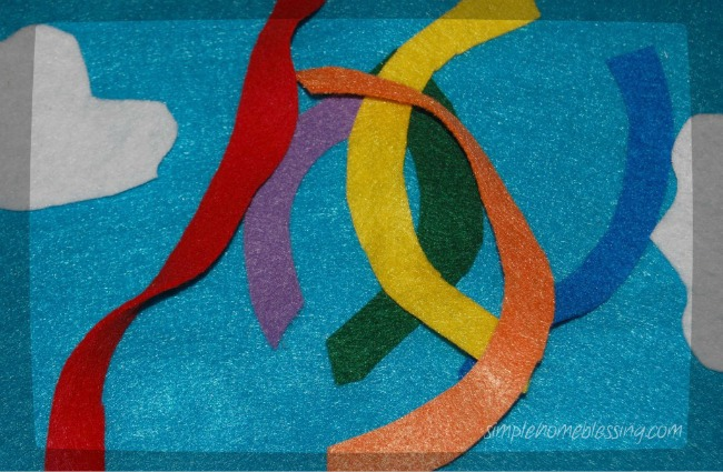 Activity for toddlers: Make a rainbow puzzle {You can make it!}