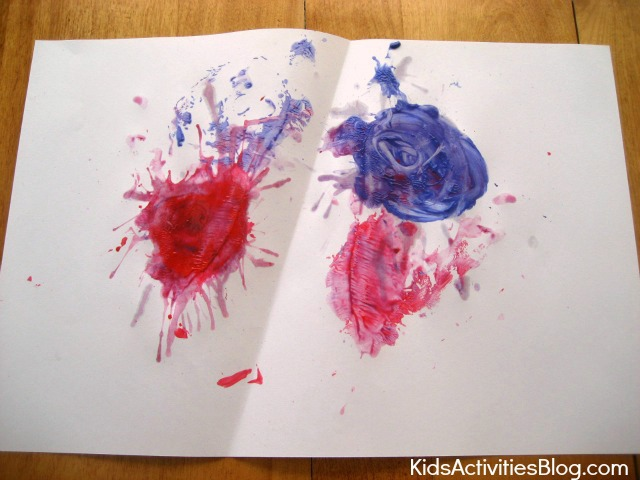 Fun 4th of July fireworks painting for kids