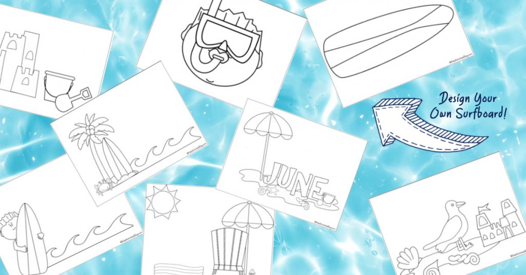 Beach Coloring Pages for Kids - Kids Activities Blog