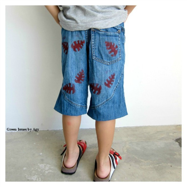 Upcycling ideas for pants {use acrylic pant and stencils!}