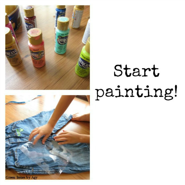 Refashion clothes with acrylic paint {upcycling ideas for kids}