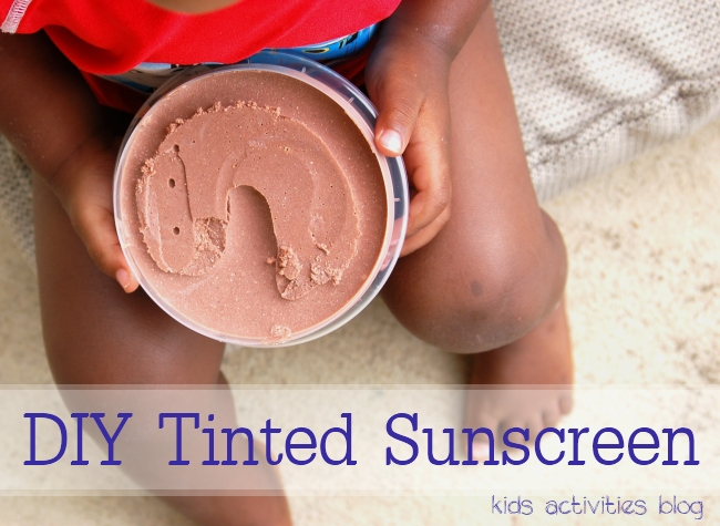 DIY Sunscreen recipe - tinted for kids of color