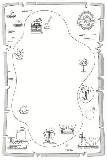 Treasure Map Activity for Compass Rose