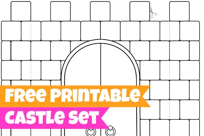 Free Printables for Kids - this castle set is precious and good for hours of entertainment