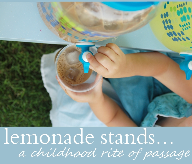 Lemonade Stands - Brilliant - serve coffee for mom and lemonade for the kids
