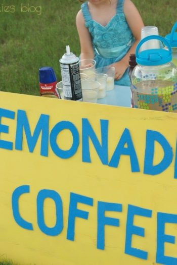 A lemonade stand is a great way to help kids learn about money