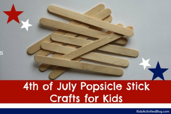 Fourth of July Popsicle Stick Crafts for Kids
