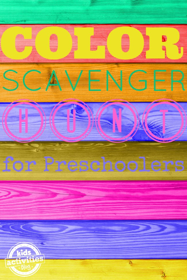 Color Scavenger Hunt for Preschoolers featured on Kids Activities Blog
