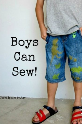 easy sewing project - boys can sew