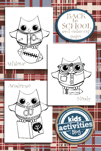 Back to School Coloring Pages from Kids Activities Blog