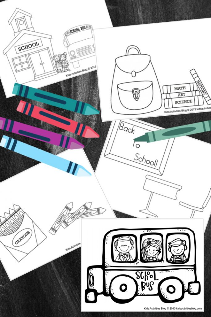 Back to school coloring pages for kids - Kids Activities Blog